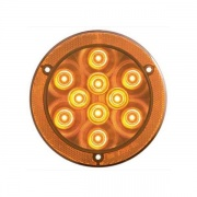 Optronics 10 LED Round Stop/Turn/Tail Reflex Flange Mount Amber   NT71-7217  - Towing Electrical - RV Part Shop USA