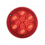 Optronics 10 LED Stop/Turn/Tail 4 In Reflex Flange Mount Red   NT71-7218  - Towing Electrical - RV Part Shop USA