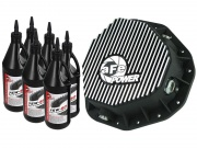 Advanced Flow Engineering Pro Series Rear Differential Cover Kit Black w/ Machined Fins & Gear Oil  NT90-0226  - Covers and P...