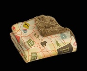 """Camp Casual THE THROW-TRAVEL MAP 50\\"""" X 60\\""""  NT03-2192  - Sofas - RV Part Shop USA"""