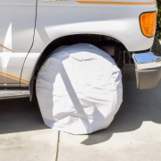 Valterra RV WHEEL COVER 2 WHITE 24 -26  NT62-2590  - Tire Covers
