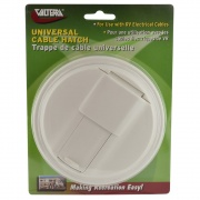 Valterra Universal Cable Hatch Round White Cd   NT19-1788  - Power Cords - RV Part Shop USA