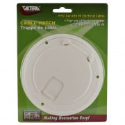 Valterra Cable Hatch Large Round White Cd   NT19-1790  - Power Cords - RV Part Shop USA