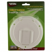 Valterra Cable Hatch Medium Round White Cd   NT19-1791  - Power Cords - RV Part Shop USA