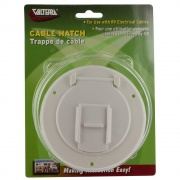Valterra Cable Hatch Small Round White Cd   NT19-1793  - Power Cords - RV Part Shop USA
