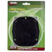 Valterra Hatch Electric Small Square Black   NT19-3915  - Power Cords - RV Part Shop USA