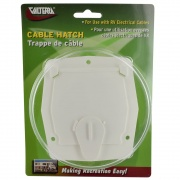 Valterra Cable Hatch Small Square White Cd   NT19-1795  - Power Cords - RV Part Shop USA