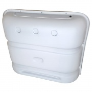 Icon Deluxe Thermoformed Propane Tank Cover - Polar White  NT06-0110  - LP Tank Covers