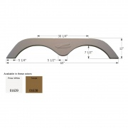 Icon R-Vision Travel Trailer FS775 - Taupe  NT15-1633  - Fenders