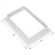 Icon Skylight Garnish SL1422 - Polar White  NT22-0335  - Skylights - RV Part Shop USA