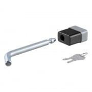 "Curt Manufacturing 1/2\\"" Hitch Lock (1-1/4\\"" Receiver, Deadbolt, Chrome)  NT72-1765  - Hitch Locks - RV Part Shop USA"