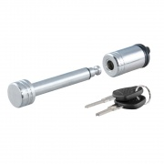 "Curt Manufacturing 1/2\\"" Hitch Lock (1-1/4\\"" Receiver, Barbell, Chrome)  NT72-1779  - Hitch Locks - RV Part Shop USA"