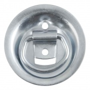 """Curt Manufacturing 1-1/8\\"""" x 1-5/8\\"""" Recessed Tie-Down Ring (1,000 lbs., Clear Zinc)  NT72-2624  - Cargo Accessories"""