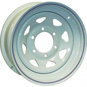 Americana 12X4 Trailer Wheel Spoke 5H-4.5 White Striped   NT17-0307  - Wheels and Parts
