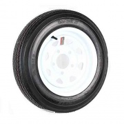 Americana 480-12 Tire B/5H Trailer Wheel Spoke White Striped   NT17-0195  - Trailer Tires - RV Part Shop USA