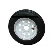 Americana 480-12 Tire C/4H Trailer Wheel Spoke White Striped   NT17-0196  - Trailer Tires - RV Part Shop USA