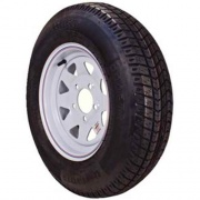 Americana 530-12 Tire C/5H Trailer Wheel Spoke White Striped   NT17-0205  - Trailer Tires - RV Part Shop USA