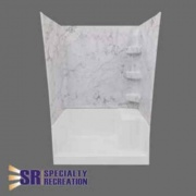 Specialty Recreation Shower Wall 24X40X66 Great Smky Mnt  NT62-2499  - Tubs and Showers