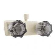 Dura Faucet Classical RV Shower Faucet White  NT10-0830  - Faucets - RV Part Shop USA
