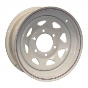 Americana 15X5 Trailer Wheel Spoke 5H-5.0 White Striped   NT21-0012  - Wheels and Parts