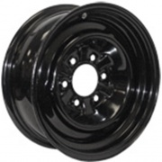 Americana 15X6 Trailer Wheel Conventional 5H-4.5 Black 2.62P   NT17-0330  - Wheels and Parts