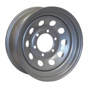 Americana 16X6 Trailer Wheel Mini Modular 5H Silver Spark .50   NT17-0047  - Wheels and Parts