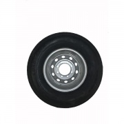 Americana 235/80R16 Tire E/8H Trailer Wheel Mini Modular Silver   NT17-0231  - Trailer Tires - RV Part Shop USA