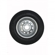 Americana 175/80D13 Tire C/5H Trailer Wheel Mini Modular Silv   NT17-0451  - Trailer Tires - RV Part Shop USA