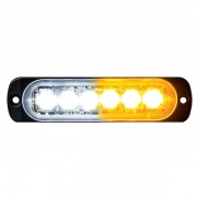 Buyers Products LIGHT,STROBE,4-3/8IN,6-LED,AMBER/CL  NT72-7530  - Emergency Warning - RV Part Shop USA
