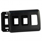 JR Products Triple Switch Base & Face Plate Black   NT19-0168  - Switches and Receptacles - RV Part Shop USA