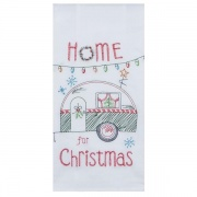 """Kay Dee Design Embroidered Christmas Camper Trailer Flour Sack Dish Towel - 18\\"""" x 28\\""""  NT68-5702  - Laundry and Bath - RV..."""