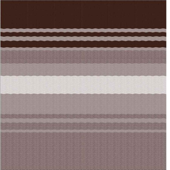 Power Awning Roller/Fabric Standard Vinyl Sierra Brown Stripe 12'
