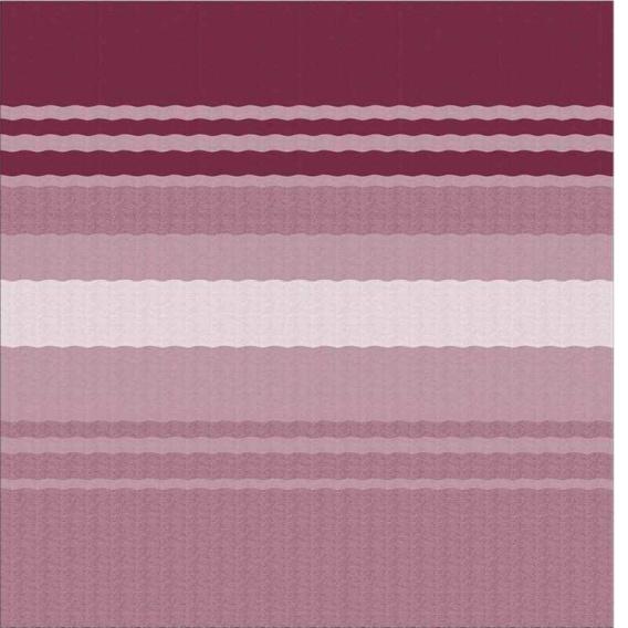 Power Awning Roller/Fabric Standard Vinyl Bordeaux Stripe 17'
