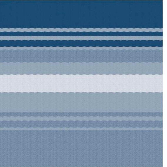 Power Awning Roller/Fabric Standard Vinyl Ocean Blue Stripe 20'