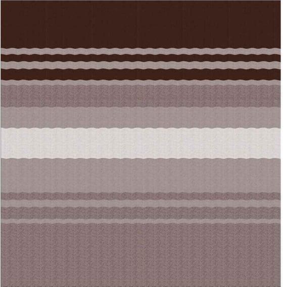 Fiesta Springload Awning Roller/Fabric Sierra Brown Stripe 20'