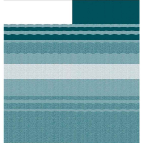 """CampOut Bag Awning 9'10"""" Teal Stripe"""