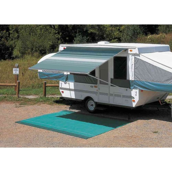 """CampOut Bag Awning 11'6"""" Teal Stripe"""