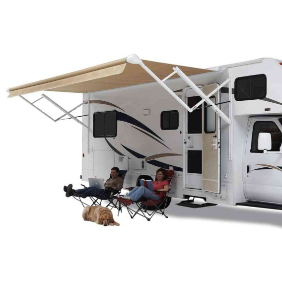 Travel'r Electric Awning Arms White (Steep Pitch)