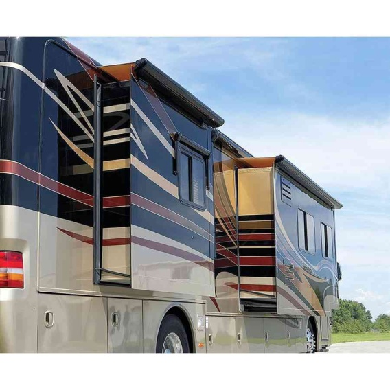 """Sideout Kover III Awning 129"""" Black w/Fabric"""