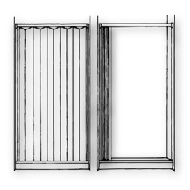 Shower Door 48X57 White