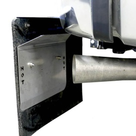 Exhaust Heat Shield - Rockstar Mud Flaps