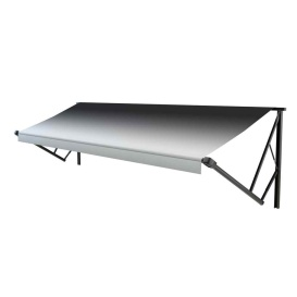 Classic Solera Manual Roller/Fabric 10 ft. Black Fade