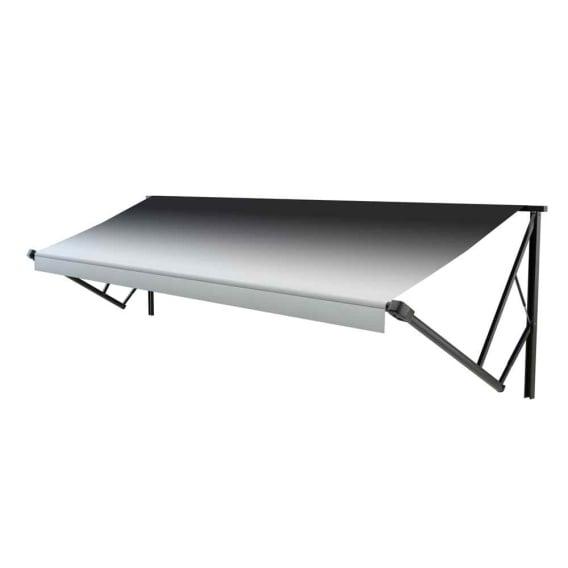 Classic Solera Manual Roller/Fabric 14 ft. Black Fade