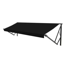 Classic Solera Manual Roller/Fabric 15 ft. Solid Black