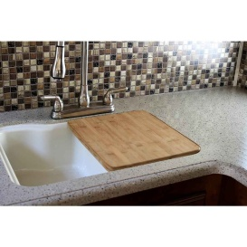RV and Marine Sink Cover Bamboo Wood