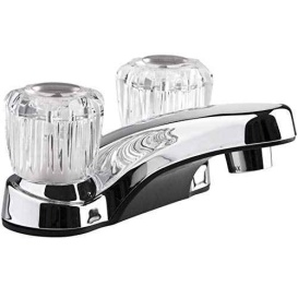 Lav Faucet w/Crystal S Polished Chrome