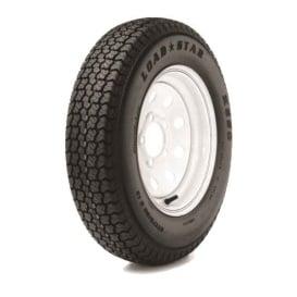 205/75D Tire15 C/5H Trailer Wheel Spoke White Striped
