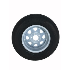 205/75R14 Tire C/5H Trailer Wheel Spoke White Striped