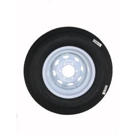 225/75R15 Tire D/6H Trailer Wheel Spoke White Striped