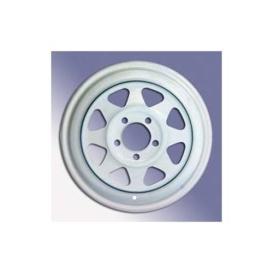 """Wheel 8 Spoke White 15""""X6"""""""